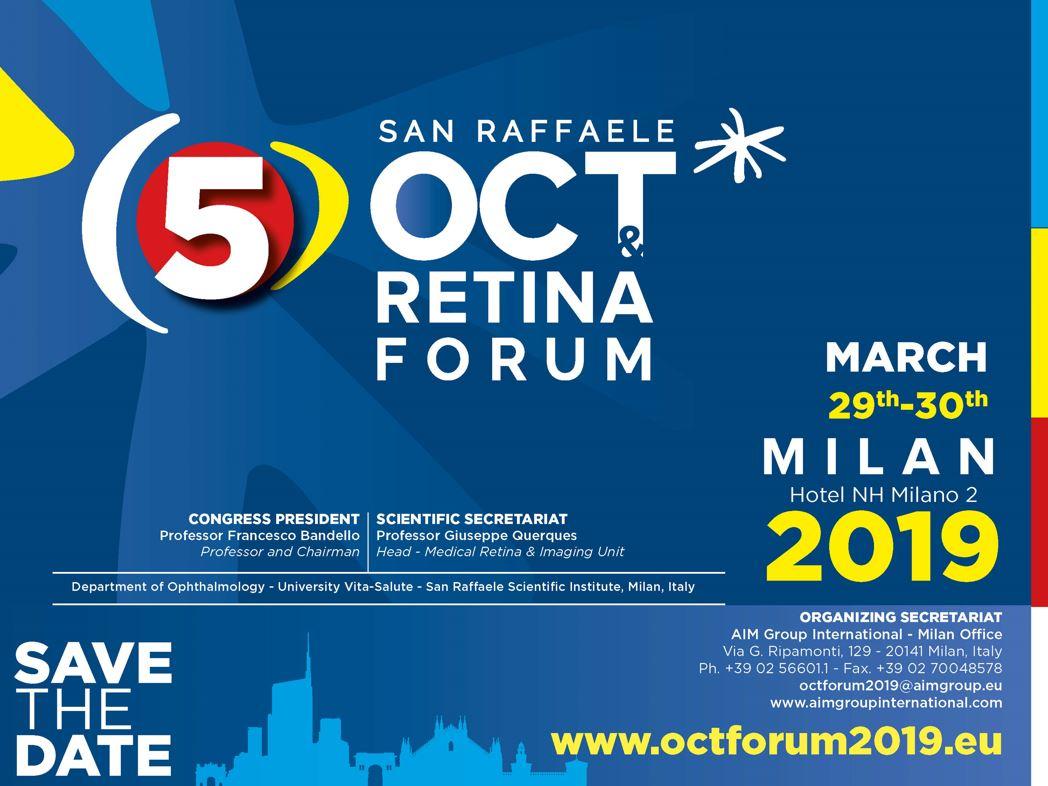 5° SAN RAFFAELE, OCT RETINA FORUM - Save the Date