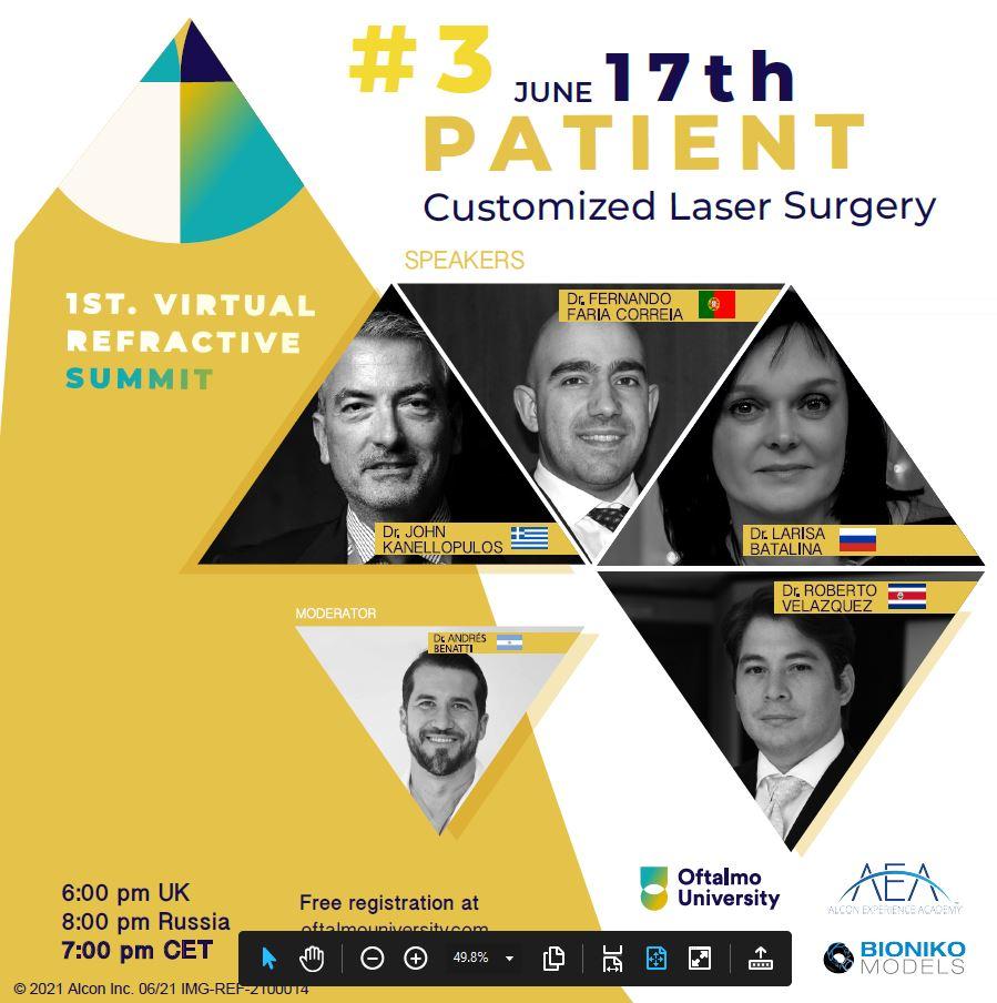 JUNE 17th: PATIENT Customized Laser Surgery